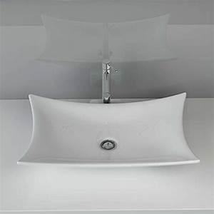 Waschbecken Aufsatz Für Badewanne : design keramik waschtisch aufsatz waschbecken waschplatz f r badezimmer g ste wc a68 ~ Markanthonyermac.com Haus und Dekorationen