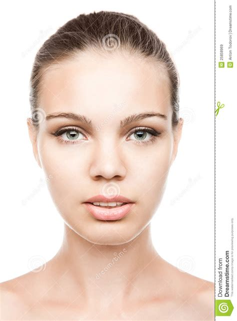 Face Portrait Of A Beautiful Female Model Stock Image