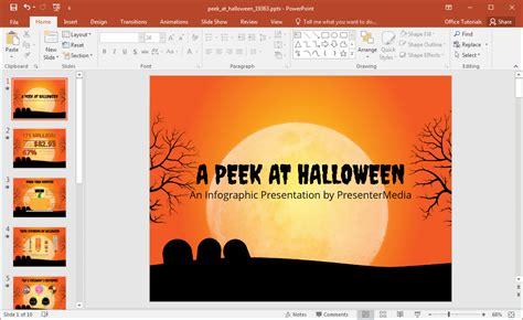 animated peek  halloween powerpoint template