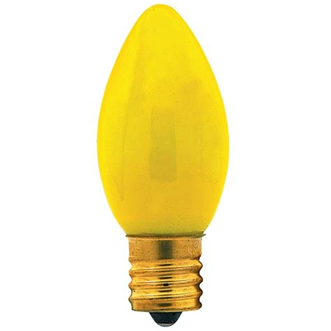 7c9n cy130 7 watt c9 ceramic yellow string bulb