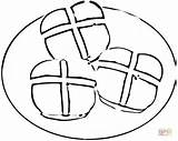Cross Coloring Pages Buns Clipart Colouring Easter Printable Bread Roll Drawing Clip Cliparts Paper Christian Designs Supercoloring Categories sketch template