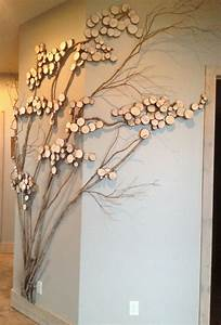 Refining tree art twig for wall decor with