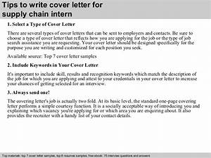 cover letter for supply chain management - supply chain intern cover letter