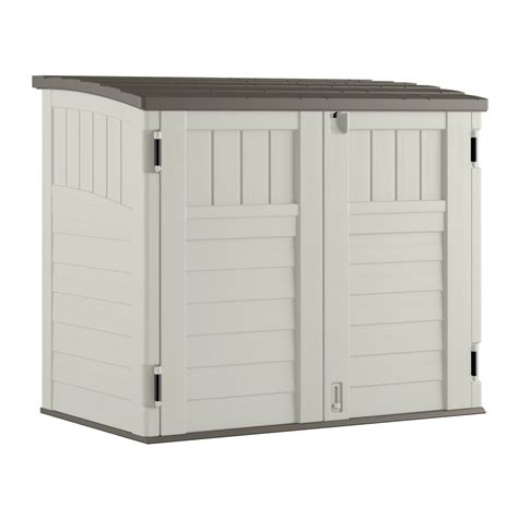 suncast horizontal storage shed 32 cu ft shop suncast vanilla resin outdoor storage shed common