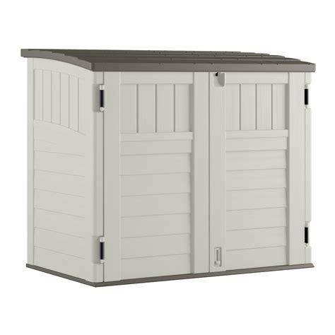 shop suncast vanilla resin outdoor storage shed common