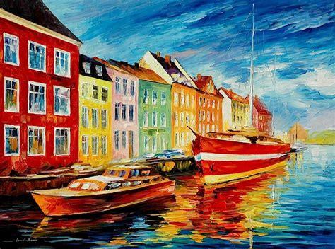 AMSTERDAM — City Docks — PALETTE KNIFE Oil Painting On ...