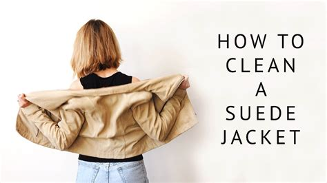 How To Clean A Suede Jacket & Jacket Liner  Youtube