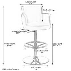 Bar Height Stool Size by Chateau Adjustable Height Swivel Bar Stool With Chrome