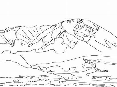 Mountains Coloring Aubrey