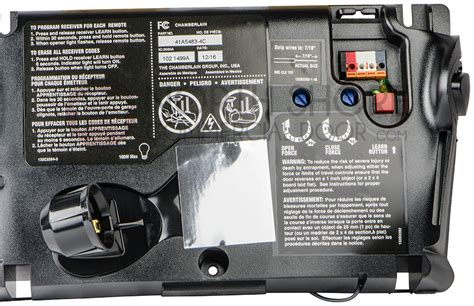 Sommer Garage Door Opener Wiring Diagram by Chamberlain Circuit Board 41a5483 4c For Liftmaster 2280