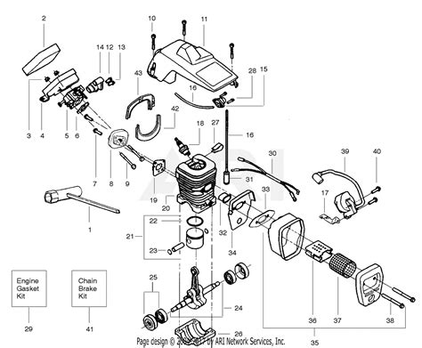 poulan craftsman  gas chain  parts diagram