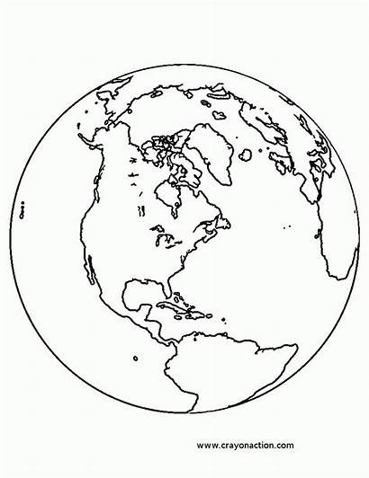 Earth Coloring Planet Pages Printable Globe Earthquake