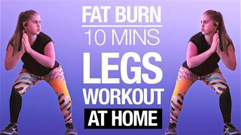 10 min LEGS HIIT Workout | FAT BURNING No Equipment At ...
