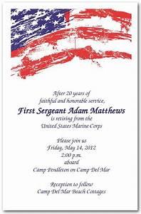 Formal Party Invitation Template Grunge Patriotic Usa Flag Invitations Retirement