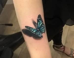 Tattoo Feder Unterarm : schmetterling tattoo designs mit bedeutungen 40 ideen ~ Frokenaadalensverden.com Haus und Dekorationen