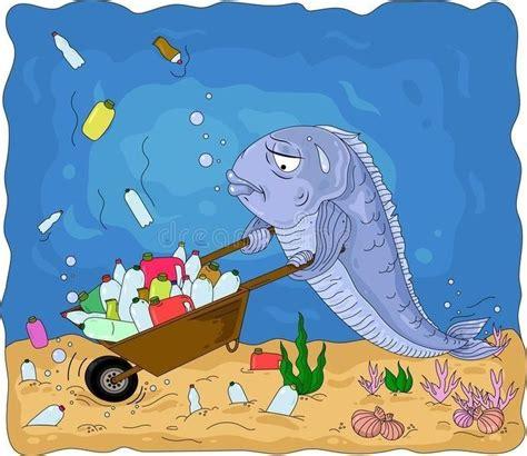 Mar poluído   수질 오염, 지구 온난화, 유아 미술