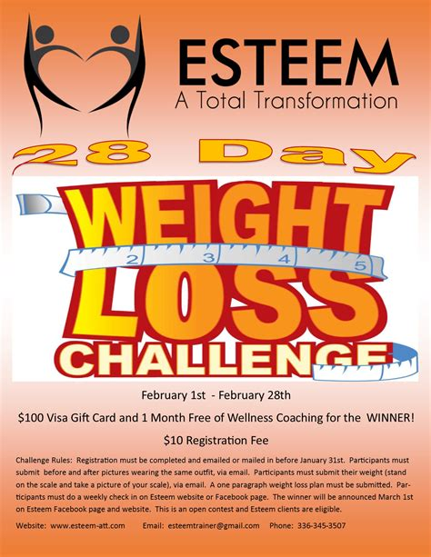 28 Day Weight Loss Challenge  Greensboro, Nc Esteem, A