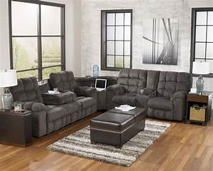 Furniture cool grey ashley furniture sectional sofas for Sectional sofa with bed and recliner