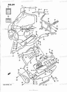Suzuki Motorcycle 1989 Oem Parts Diagram For Cowling