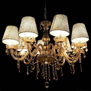 6, Light, Crystal, Chandelier, Ceiling, Lamp, European, Style, Candle, Pendant, Light