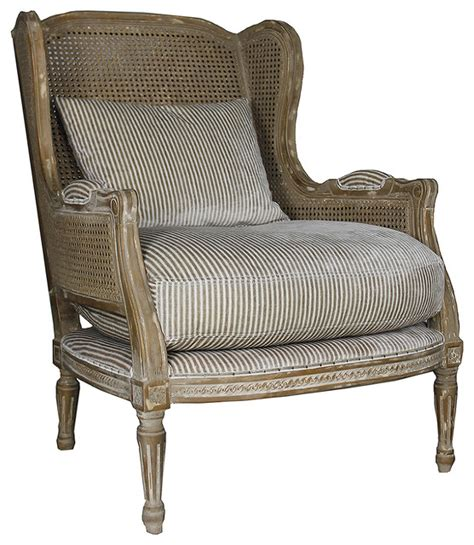 Country Accent Chairs by Montpelier Country Buff Wing Back Salon Arm Chair