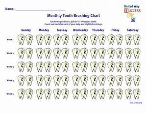 Monthly Tooth Brushing Chart Monthly Tooth Brushing Chart Tooth Brushing Chart First
