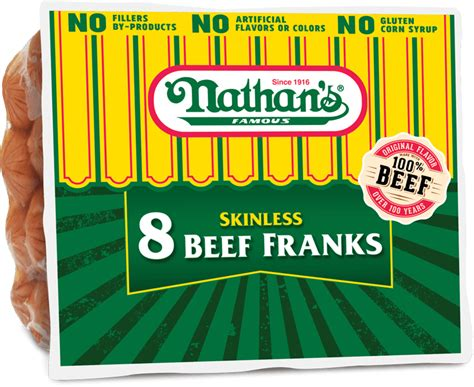 Skinless Beef Franks | Nathan's Famous