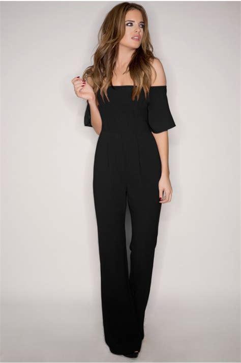 Binky Black Off The Shoulder Jumpsuit | *!la mode!* | Pinterest | Binky Shoulder and Black