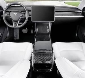 Carbon Fiber Car Dashboard Bar Decoration Stripe Cover for Tesla Model 3 – Techmaxing