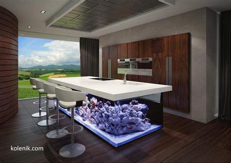 cuisines de luxe 25 rooms with stunning aquariums decoholic