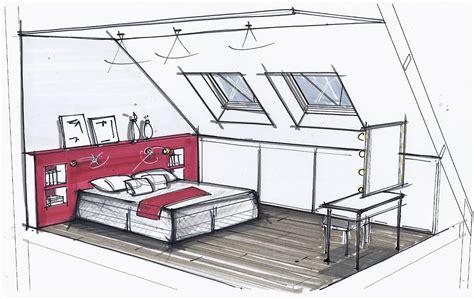 croquis chambre chambre petits espaces chambres croquis