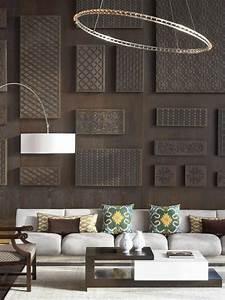 Wandgestaltung Büro Ideen : vorschlaege wandgestaltung wohnzimmer mit stein ~ Lizthompson.info Haus und Dekorationen