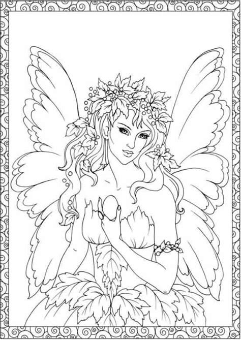 Forest fairy coloring sheet Fairy coloring pages Fairy