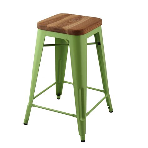 Bar Stool Top Tolix Replica Bar Height Stool With Wooden Top Home
