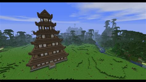 minecraft japanese pagoda tutorial part  youtube
