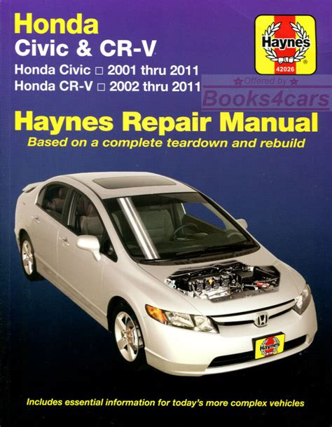 honda crv shop manual service repair book haynes workshop