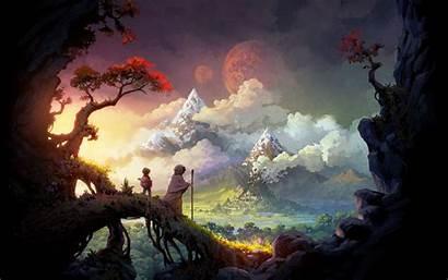 Fantasy Landscape Wallpapers Desktop Android Backgrounds Pixelstalk