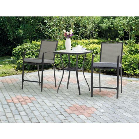 mainstays oakmont 3 patio bistro set seats