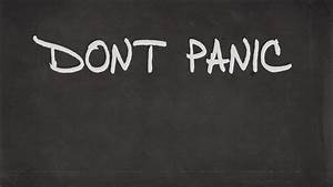 Don39t Panic Graffiti Minimalistic The Hitchhikers Guide ...