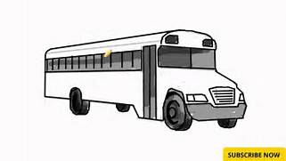 How to Draw a Bus - Learn to Draw Bus - How to draw Cartoons with easy      Bus Drawing
