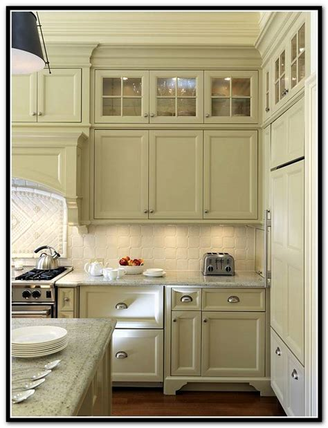kitchen cabinets with glass doors on both sides kitchen design awesome white kitchen cabinets with glass 9863