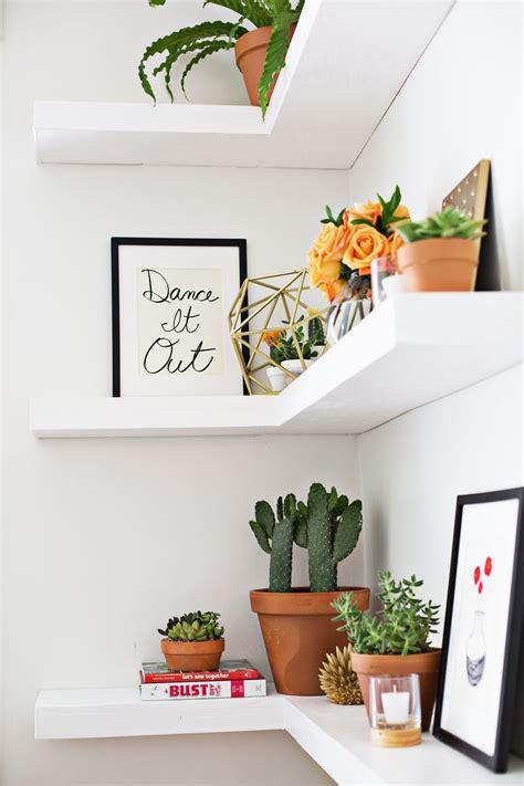 floating corner shelf diy floating corner shelves a beautiful mess