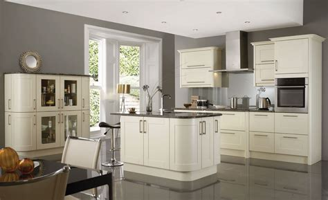 Corner White Wooden Kitchen Cabinet With Glass Doors Plus