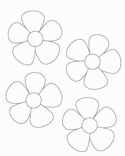 Flower Printable Templates Coloring Pot Template Card