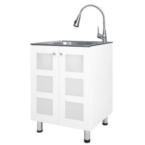 home depot laundry sink canada presenza utility cabinet with sink and faucet stainless