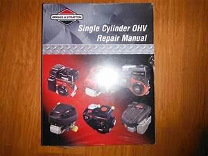 Briggs  U0026 Stratton Single Cylinder Ohv Service Manual P  N