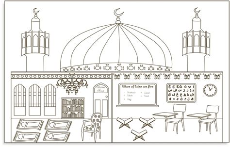 terbaru 28 gambar mewarnai masjid sd