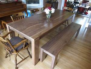 Walnut Dining Room Table Bench By Dsz123 LumberJocks