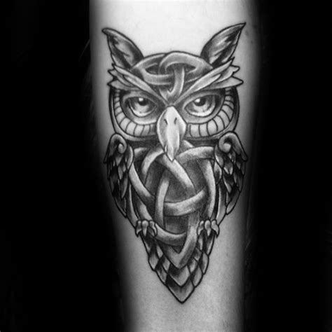 celtic owl tattoo designs  men knot ink ideas