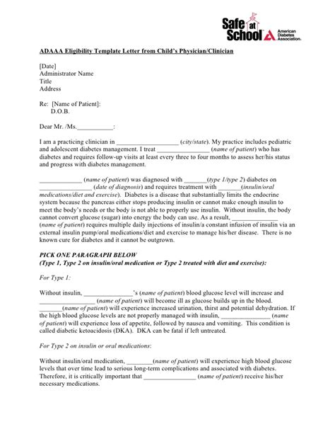 contract template update to carry note adaaa eligibility template letter from child s physician